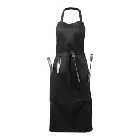 Bear BBQ apron with utensils and glove