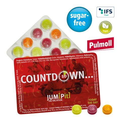 Smallest event calendar of the world with Pulmoll throat candies