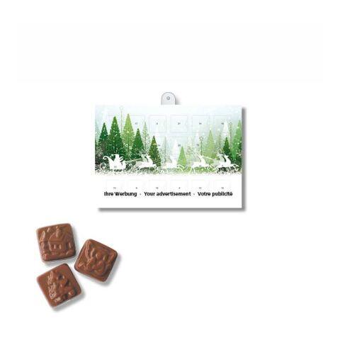 A5 Chocolate Advent Calendar BASIC White | 1-colour printing