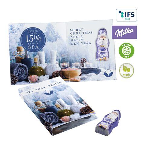 Sweet Wrap with Milka Mini Santa Claus White | 3-colour printing