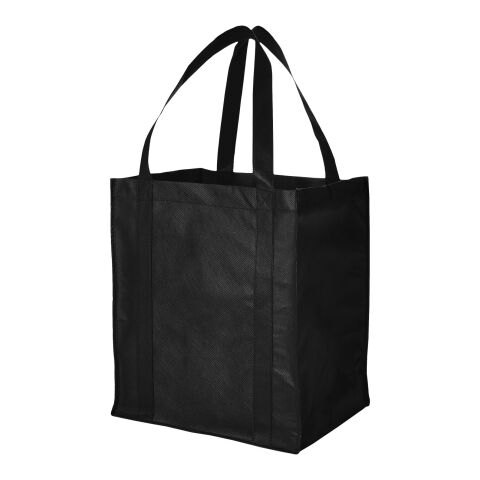 Liberty Non Woven Grocery Tote  Black | Without Branding