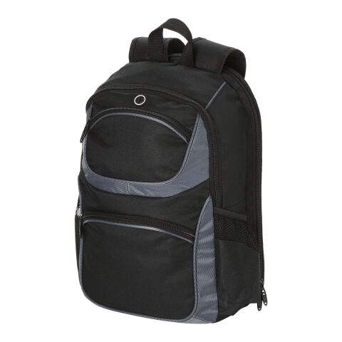 """Continental 15.4"""" laptop backpack solid black-Dark grey 