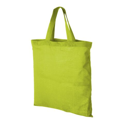 Virginia 100 g/m² cotton tote bag short handles Standard | Apple Green | not available | not available | No Branding