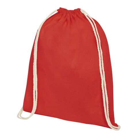 Oregon 140 g/m² cotton drawstring backpack Red | No Branding | not available | not available
