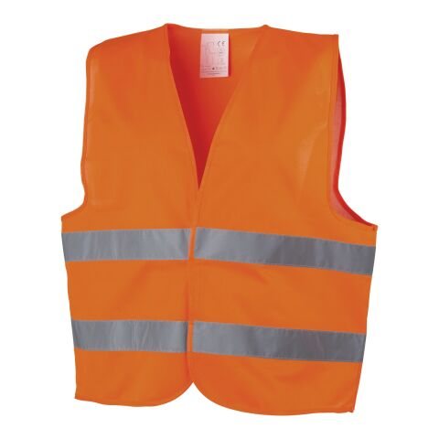 Professional Safety Vest  Orange | 2 - Colour Screen Print