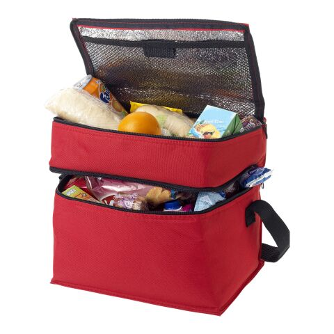 Oslo 2-zippered compartments cooler bag Red | No Branding | not available | not available