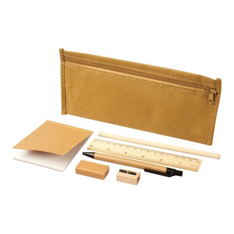 Enviro 7-piece eco pencil case set Natural | No Branding | not available | not available