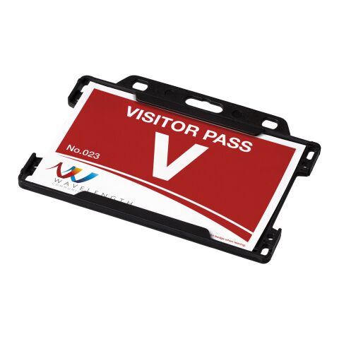 Vega plastic card holder solid black   No Branding   not available   not available