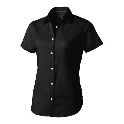 Manitoba short sleeve ladies shirt solid black | M | No Branding | not available | not available | not available