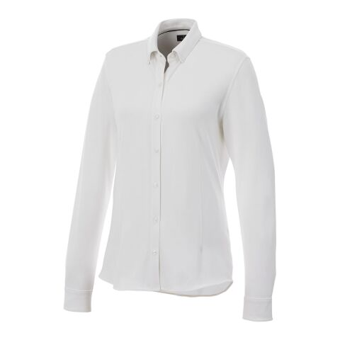 Bigelow long sleeve women's pique shirt White | XL | No Branding | not available | not available | not available