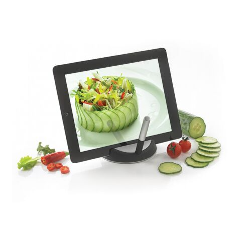 Chef tablet stand with Touch Pen Black | Without Branding