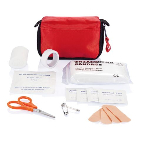 First aid set in pouch Red | Without Branding | Without Branding