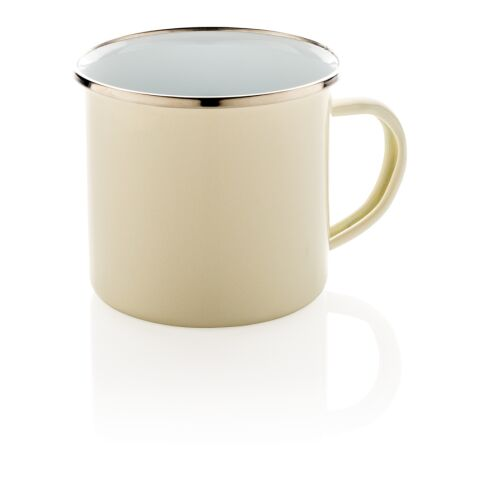 Vintage enamel mug white   Without Branding   not available   not available