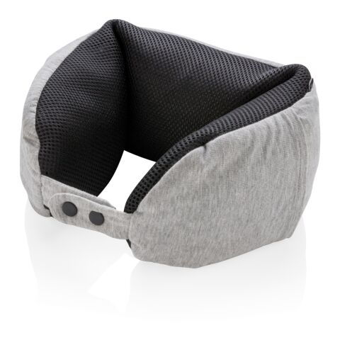 Deluxe microbead travel pillow grey-black | Without Branding | not available | not available