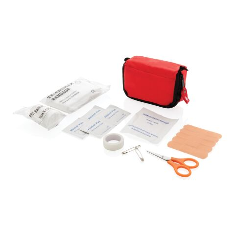 First aid set in pouch red | Without Branding | not available | not available | not available