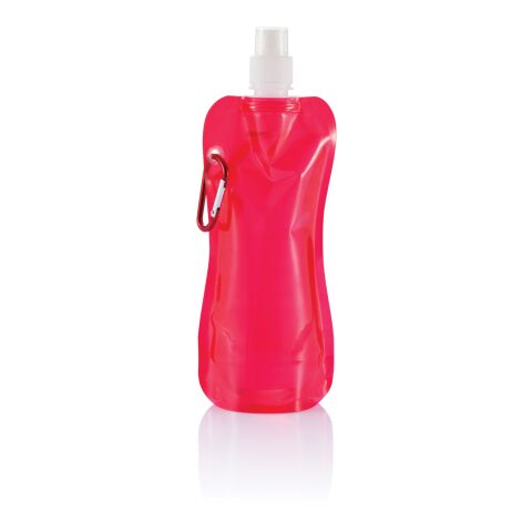 Foldable water bottle red-white | Without Branding | not available | not available