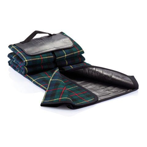 Tartan picnic blanket black   Without Branding   not available   not available   not available