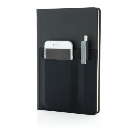 A5 Deluxe notebook with smart pockets black   No Branding   not available   not available